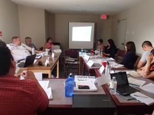 My view of the steering committee meeting.
